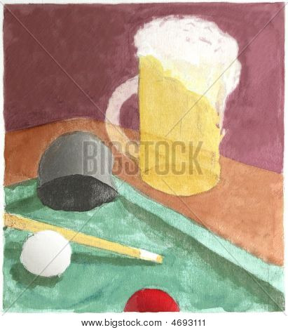 Bar Scene Watercolor