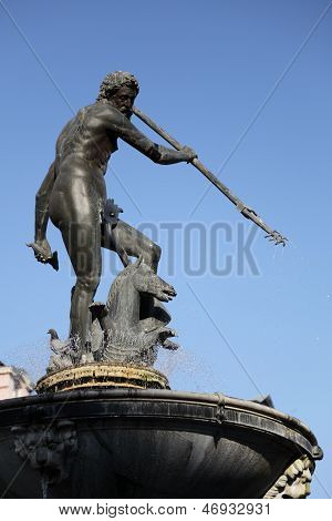 Brunnen Neptun, Danzing, Gdansk, Polen