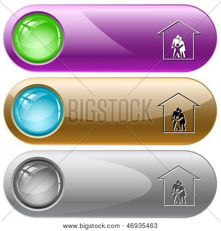 Family. Internet buttons. Raster illustration. Vector version is in my portfolio.