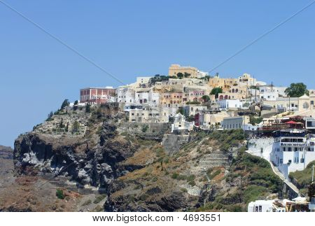 Panoramic View Of Santorini