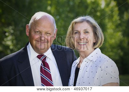 Formal Senior Couple Portrait