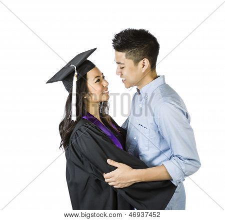 Couple Showing Happiness After College Graduation