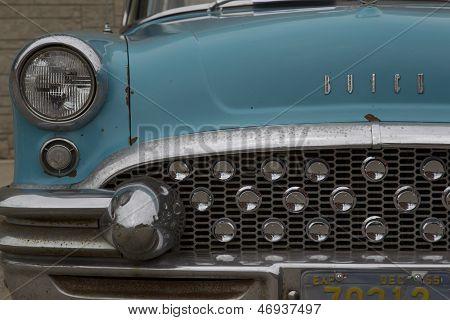 1955 Aqua Blue Buick Special Car Up Close