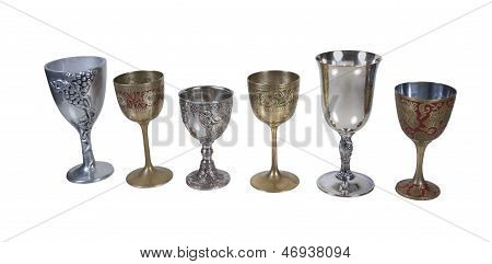 Several Antique Detailed Goblets
