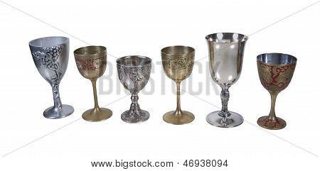 Several Antique Detailed Goblets