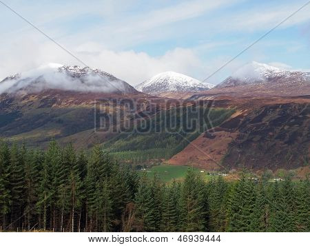 Scotland Highlands In Spring Laggan Area