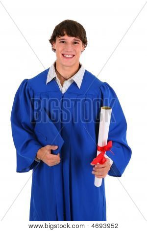 College Graduate Student Holding Certificate