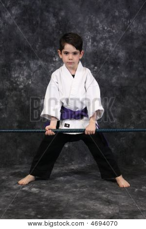 Karate Boy With Weapon