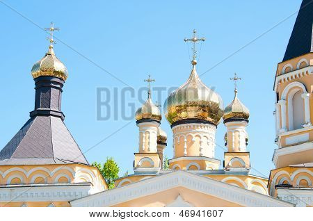 Kiev And Religion. Holy Church Of The Intercession On Solomenko.