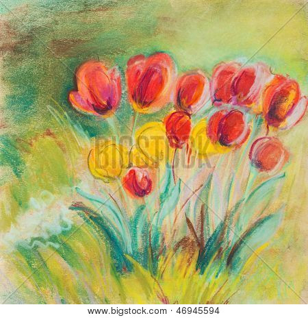 Tulips On A Summer Residence