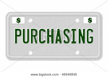Purchasing Car  License Plate