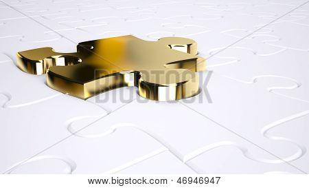 Gold Jigsaw