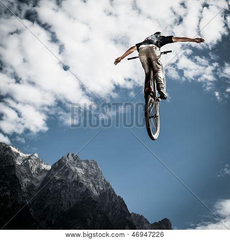 trick jump with bike