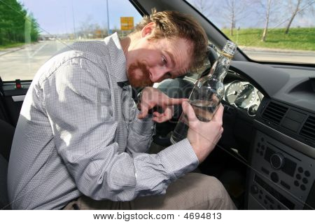 Drivers With A Bottle Alcohol