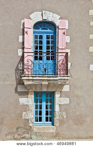 Oldfashioned Window With Balcony