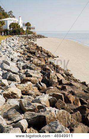 Rock Seawall To White House