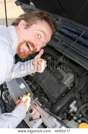 Checking Engine Oil Dipstick