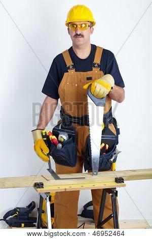 Mature Contractor. The Carpenter