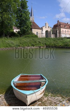 Boat In Commarin Castle