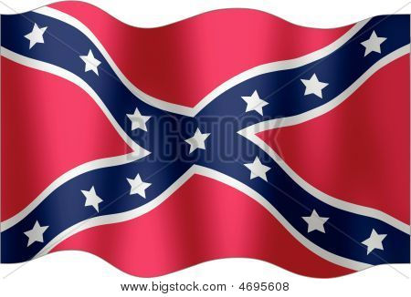 Confederate Undulating Flag