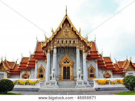 The Marble Chaple In Thailand