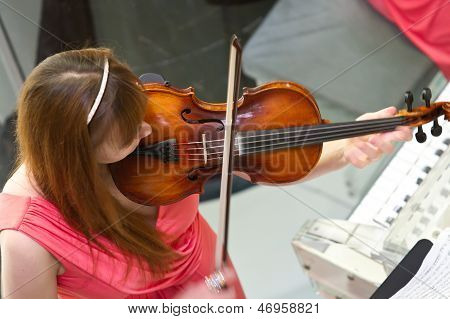 Violinist In Cruise Ship