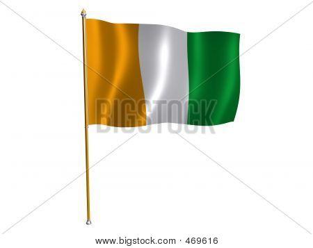 Cote D'ivoire Silk Flag