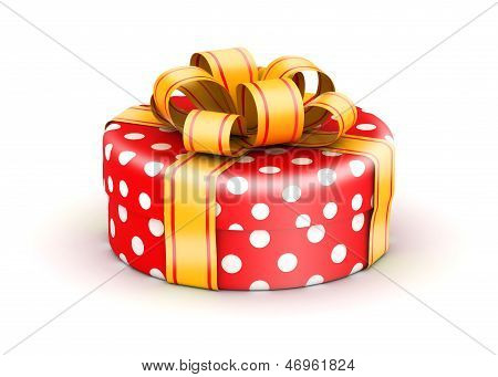 Red doted  gift box