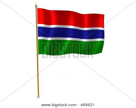Gambian Silk Flag