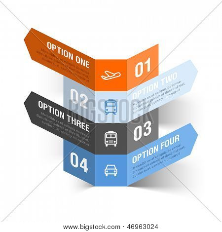 Modern travel theme infographics template. Vector.