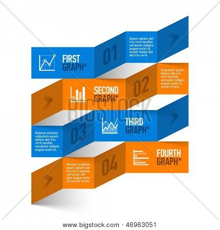 Modern stock chart theme infographics template. Vector.