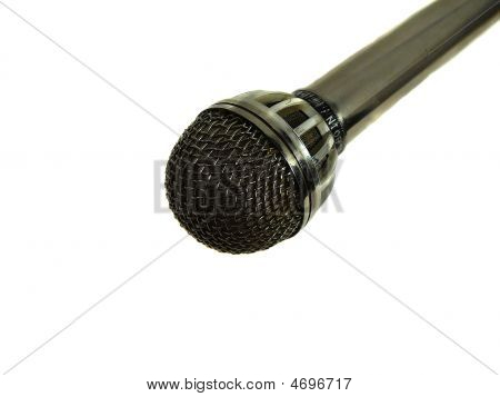 Vocal Microphone On White