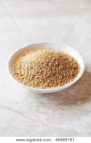 Cous cous in a small dish