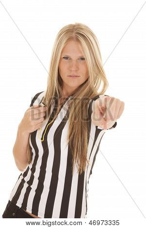 Woman Referee Pointing