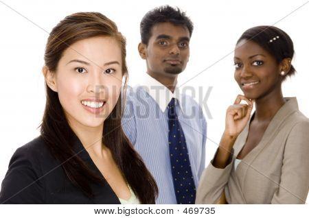 Equipe dinâmica empresarial