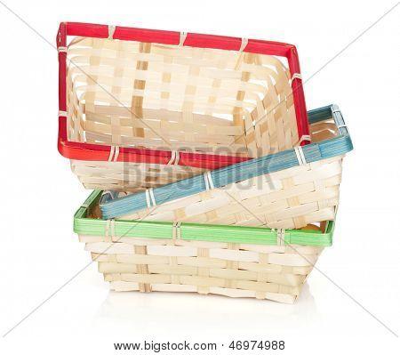 Fruit basket. Isolated on white background