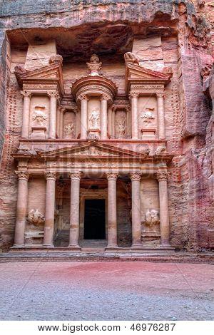 Al Khazneh en Petra, Jordania