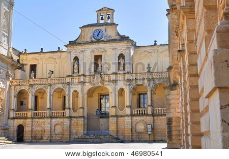 Episcopal palace. Lecce. Puglia. Italy.