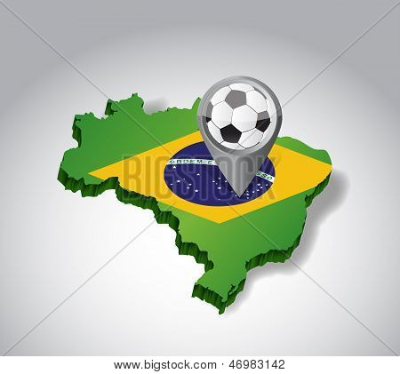 Brazil. Brazilian Soccer Concept Illustration