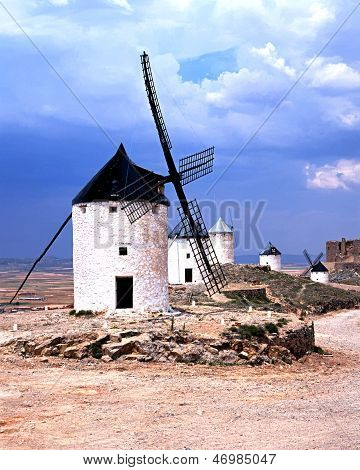 Windmills, Consuegra, Spain.