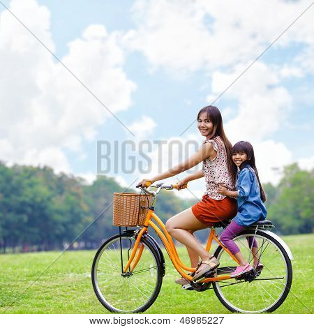 Cycling Bicycle At The Park