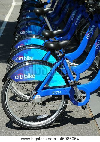 Citi bike station in Williamsburg section of Brooklyn