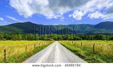 Sparks Lane in Cades Cove near Gatlinburg, Tennessee.