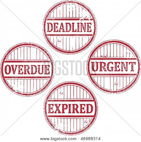 Urgent Deadline Rubber Stamps