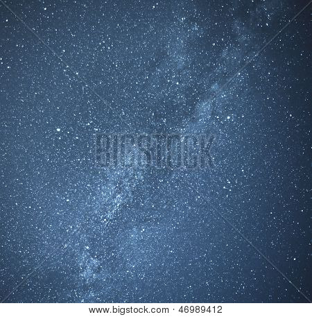 Universal milky way galaxy with stars and space dust.