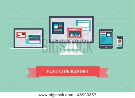 Flat User Interface Design Set