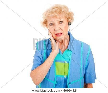 Cellphone senior Woman verärgert