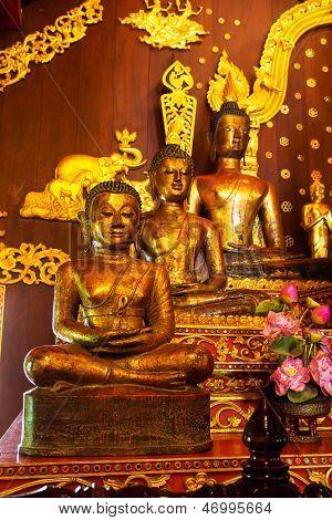 Three Golden Buddhas