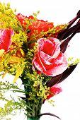 image of tuberose  - red and orange gerbera - JPG