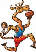 Постер, плакат: Гордостью Жираф Баскетбол игра